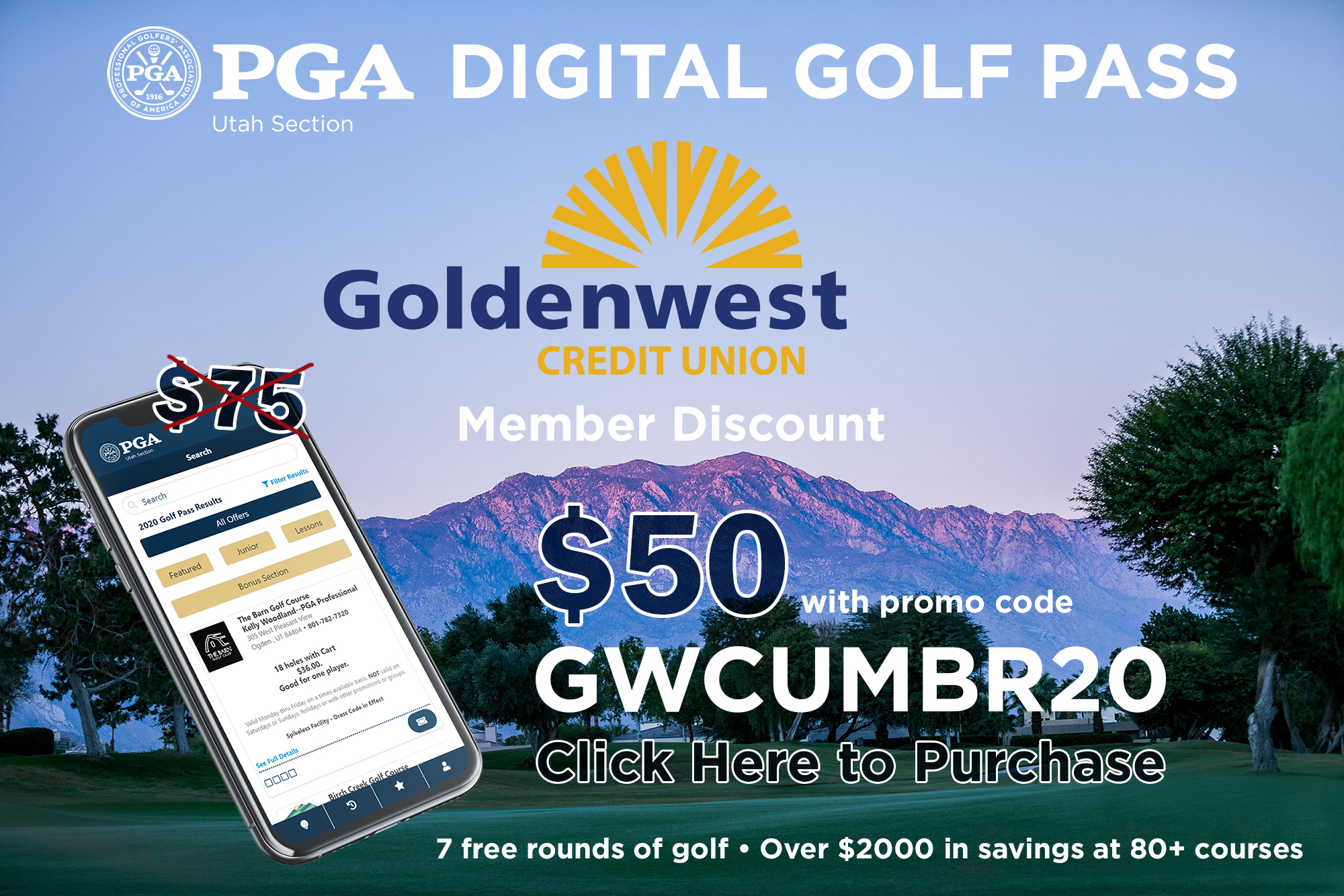 Save $25 with Promo Code GWCUMBR20